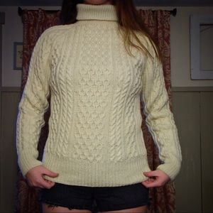 Hand-knit wool sweater.